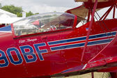 Red Pitts S-2C Plane Close Up — Stock Photo