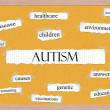 Autism Corkboard Word Concept — Stock Photo