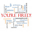 You're Fired Word Cloud Concept — Stock Photo