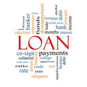 Loan Word Cloud Concept — Stock Photo