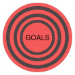 Goals Bullseye — Stockfoto