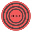 Goals Bullseye — Foto Stock
