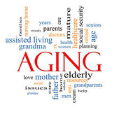Aging Word Cloud Concept — Stock Photo
