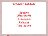 Smart Goals on White Erase Board — Stock Photo