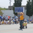 Reiland Trucking Guy in Cheesehead at parade — Foto Stock #20107745