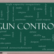 Gun Control Word Cloud Concept on a Blackboard — Stock Photo #20108277