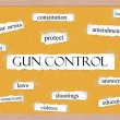 Stock Photo: Gun Control Corkboard Word Concept