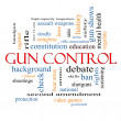 Stock Photo: Gun Control Word Cloud Concept