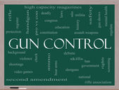 Gun Control Word Cloud Concept on a Blackboard — Stock Photo