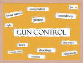 Gun Control Corkboard Word Concept — Stock Photo