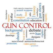 Gun Control Word Cloud Concept — Stock Photo