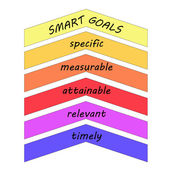 Smart Goals Up Arrows Concept — Stock Photo