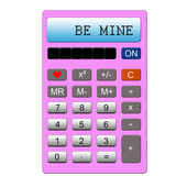 Be Mine Valentine's Day Pink Calculator — Stock Photo
