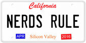 Nerds Rule License Plate — Stock Photo