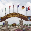 EAA Grounds Main Gate Close Up — Stock Photo