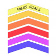 Sales Goals Up Arrows Concept — Stock Photo