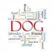 Dog Word Cloud Concept — Stock Photo