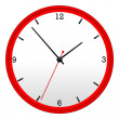 Red Wall Clock — Stock Photo