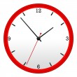 Stock Photo: Red Wall Clock