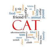 Cat Word Cloud Concept — Stock Photo