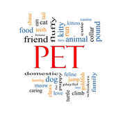 Pet Word Cloud Concept — Stock Photo