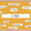 Law Corkboard Word Concept — Stock Photo