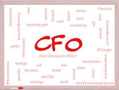 CFO Word Cloud Concept on a Dry Erase Board — Stock Photo