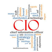 CIO Word Cloud Concept — Stock Photo