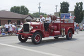 Old Seymour Fire Department Number 1 Truck at Parade — Stock Photo