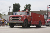 Old Chevrolet Seymour Rural Fire Department Truck Front View — Stock Photo