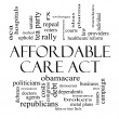 Stock Photo: Affordable Care Act Word Cloud Concept in Black and White