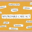 Stock Photo: Affordable Care Act Corkboard Word Concept
