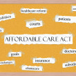 Affordable Care Act Corkboard Word Concept — Stock Photo #24883539