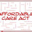 Stock Photo: Affordable Care Act Word Cloud Concept on Whiteboard
