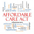 Affordable Care Act Word Cloud Concept — Stock Photo #24883569