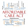 Stock Photo: Affordable Care Act Word Cloud Concept