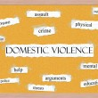 Domestic Violence Corkboard Word Concept - Stock Photo