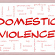 Domestic Violence Word Cloud Concept on a Whiteboard — Stock Photo