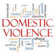 Royalty-Free Stock Photo: Domestic Violence Word Cloud Concept