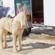 Donkey wood carving in process — Stock Photo #24883761