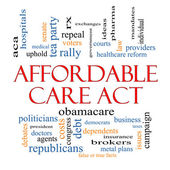 Affordable Care Act Word Cloud Concept — 图库照片