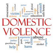 Domestic Violence Word Cloud Concept — Stock Photo