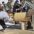 Lumberjack Two MBucksaw competition end cut — Stock Photo #24921539