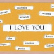 Stock Photo: I Love You Corkboard Word Concept