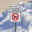 No Firearms Allowed on School Property Sign — Stock Photo