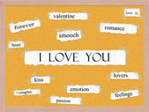 I Love You Corkboard Word Concept — Stock Photo