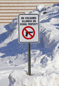 No Firearms Allowed on School Property Sign Full View — Stock Photo