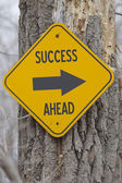 Success Ahead Arrow Sign — Stock Photo