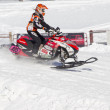 Polaris Snowmobile Racing - Stock Photo