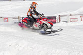 Polaris Snowmobile Racing — Stock Photo